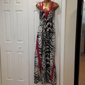 Express Dress Animal Print Maxi Dress Sundress M
